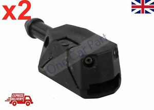 2x-Universal-Car-Windscreen-Arm-Washer-Wiper-Blade-Water-Spray-Jets-Nozzle-Black