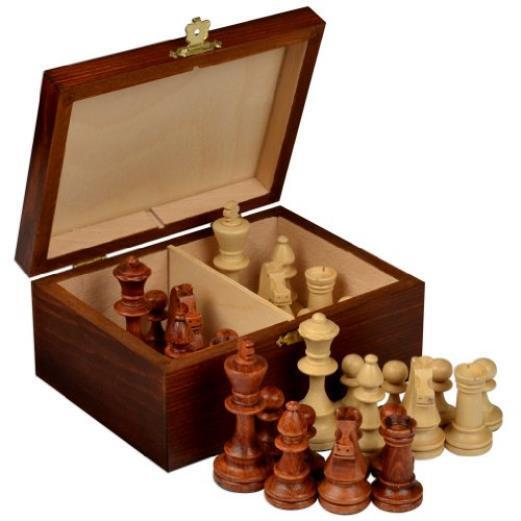Staunton No. 4 Tournament Chess Pieces W/ Wood Box By Wegiel Toy Play MYTODDLER