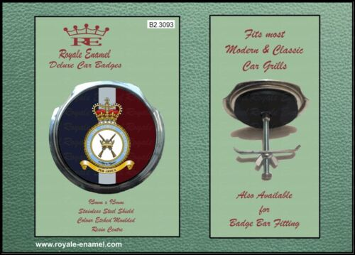 Royale Classic Car Grill Badge + Fittings - ROYAL AIR FORCE REGIMENT - B2.3093