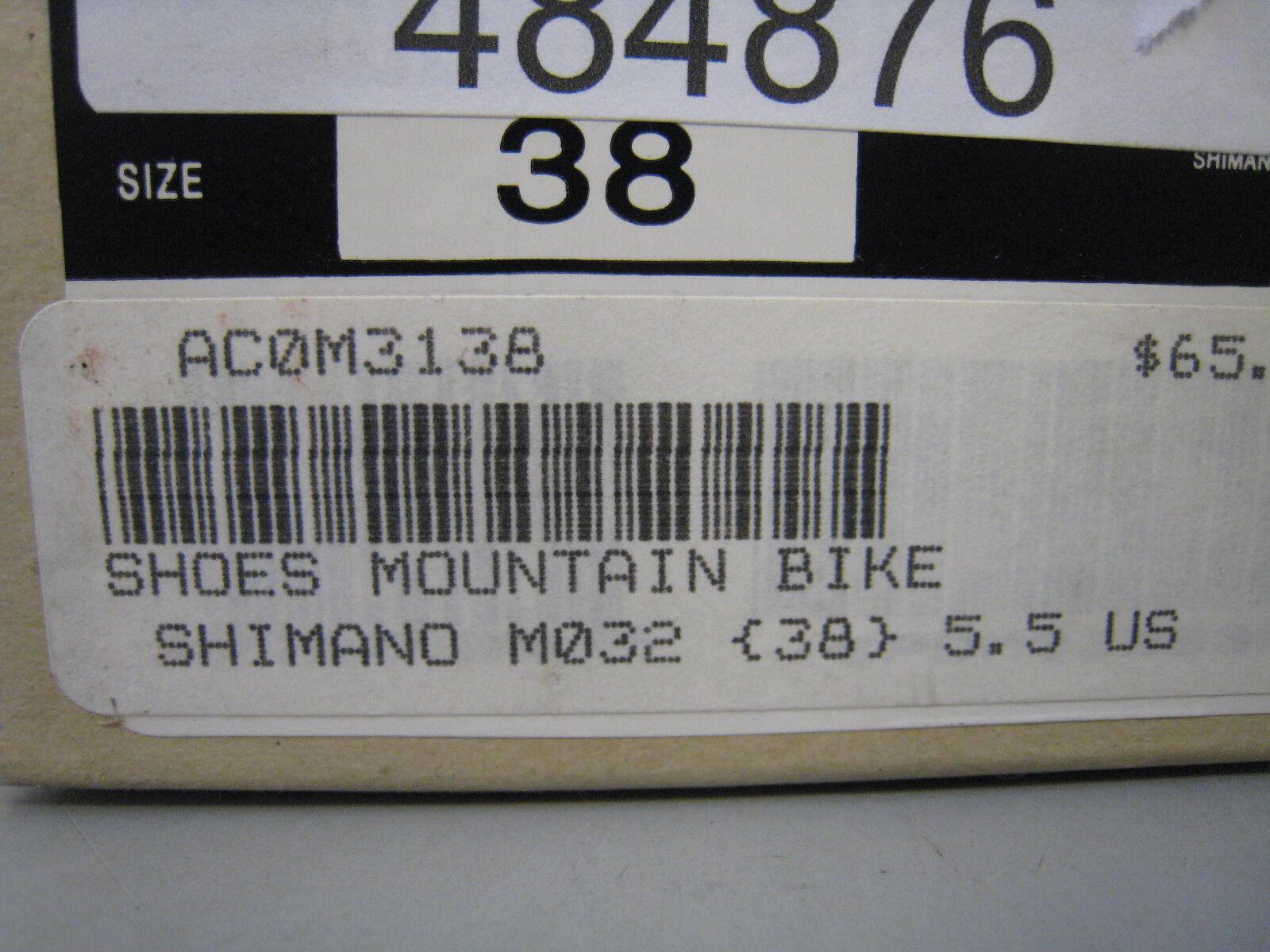 NOS Shimano Shimano Shimano SH-M032 Mountain Bike Biking Racing Schuhes  Herren Größe 38 US 5.5 3fecdc