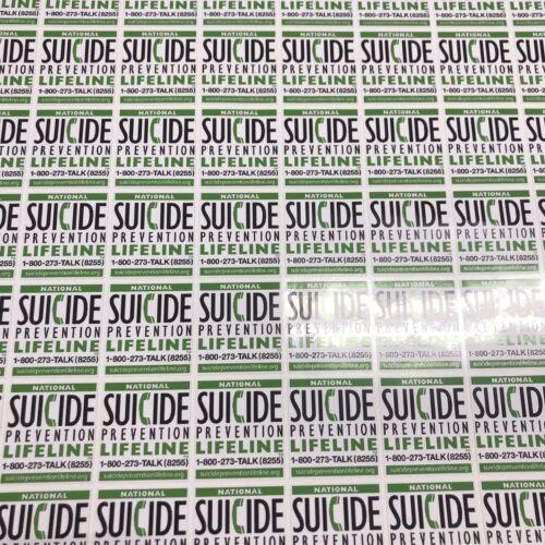 Custom Printed Logo Vinyl Adhesive Stickers Decals Labels 1 Design Bulk order