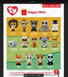 TY TEENIE BEANIE BOOS BABIES McDonalds Happy Meal Toys May 2021 Set 1- 14