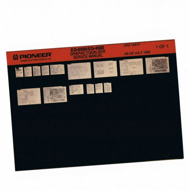 Microfiche From Pioneer Service Manual Crz1431 Crz 1431f