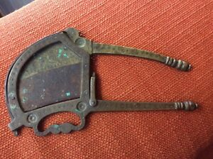 Details about Antique Vintage India Brass And Iron Betel Nut Cutter