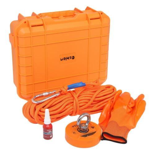 20M Rope PP Box Fishing Magnet Kit Upto 1100 Lbs Pull Force Strong Neodymium
