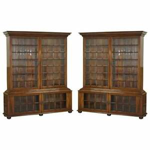 PAIR-OF-VERY-IMPORTANT-SAMUEL-PEPYS-1666-LARGE-LIBRARY-BOOKCASES-AFTER-ORIGINAL
