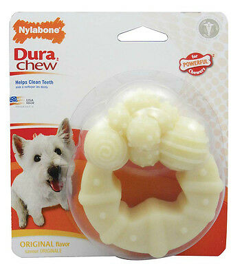 NYLABONE DuraChew RING SMALL - Tough Long Lasting Nylon Durable Dog Chew Toy