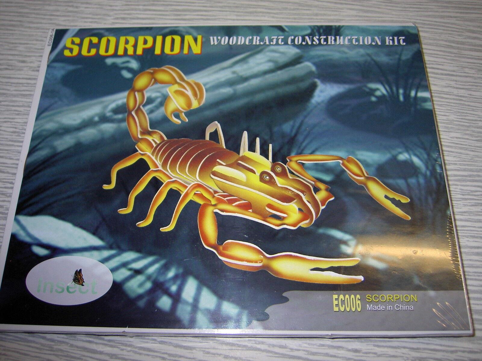 IDEAL REVENDEUR LOT DE 44  PUZZLES EN  3D en couleur   scorpion