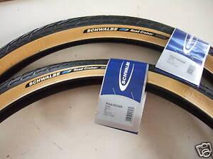 2 nouveaux hirondelle roadcruiser pneus gelbwand 26x 1.75 ou 47-559 avec profil hs377