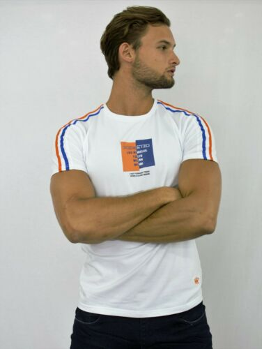 ETZO Men/'s European style fitted tee shirt with stretch cotton B15