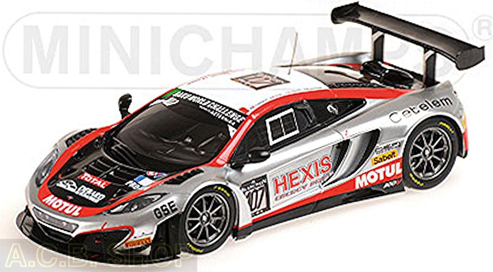 Mclaren 12c gt3 - 24h spa 2013 Hexis racing  107 1 43 Minichamps