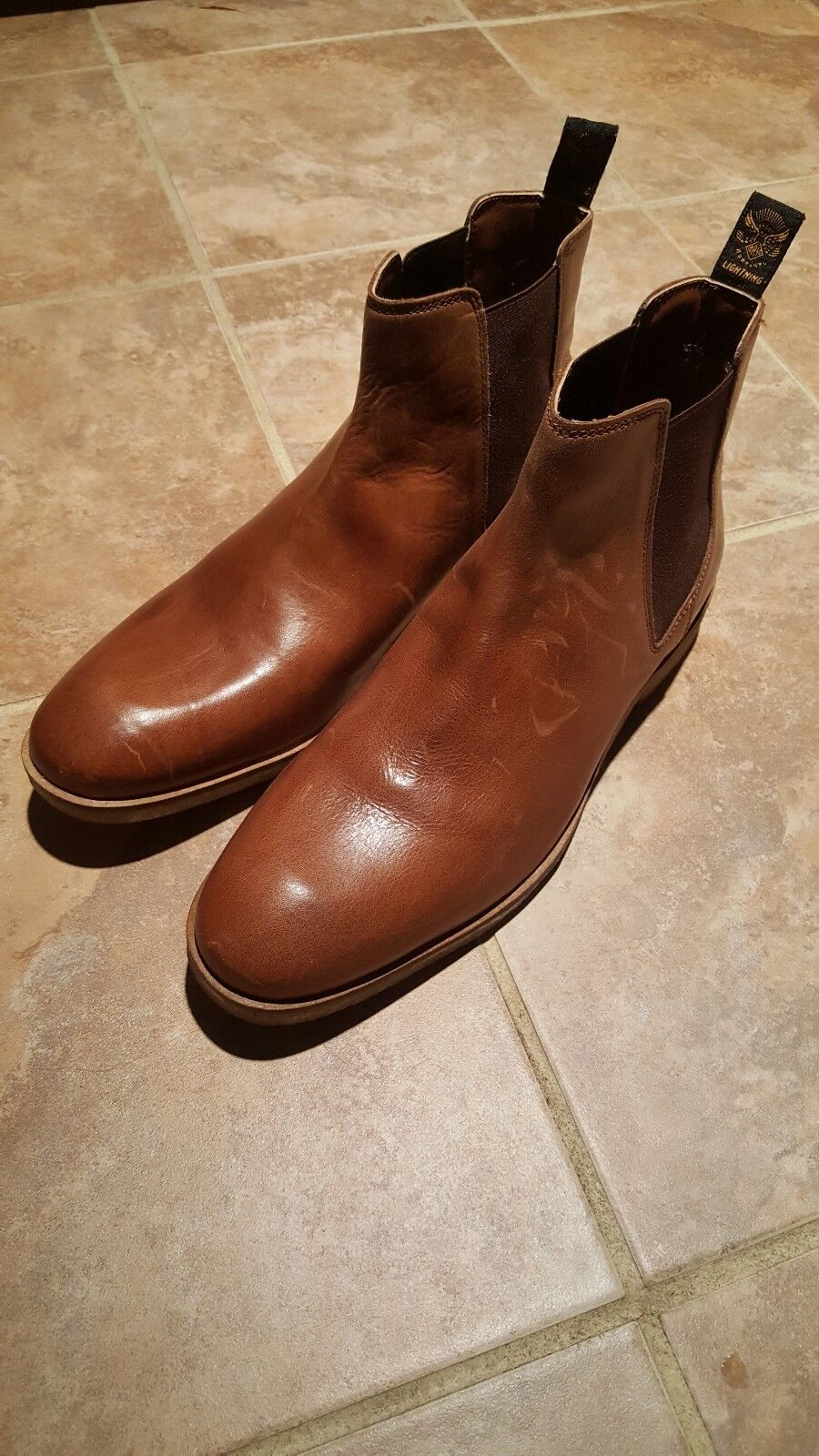 Men SUPERDRY slip On Leather Boots SIZE 11 M NWOB