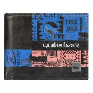 Quiksilver-NEW-Men-039-s-Freshness-Bi-Fold-Wallet-Black-BNWT
