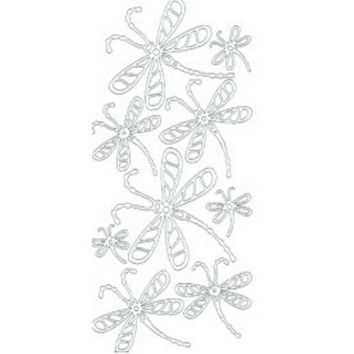 Assorted Dragonfly Peel Off Outline Sticker Sheet For Card Making Craft