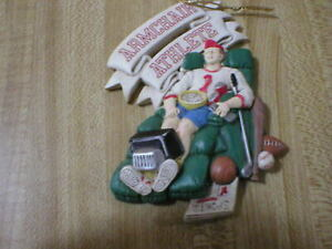 Armchair Athlete Terracotta? Ceramic? Christmas Ornament 4 ...