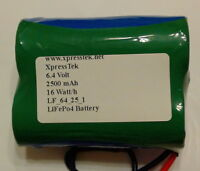 6.4 Volts 2500 Mah 2s1p Lifepo4 Battery Pack 10a Discharge Rate With Charger
