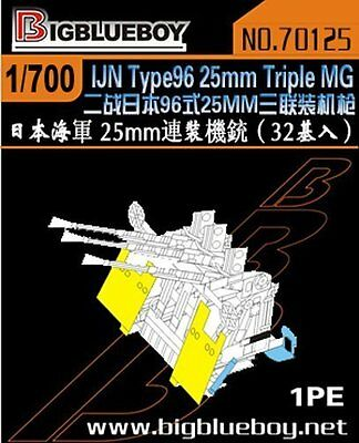 32 Pcs Models & Kits Toys & Hobbies Initiative Big Blue Boy 1/700 #70125 Wwii Ijn 25mm Type 96 Triple Mg
