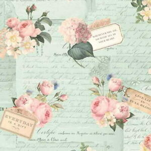Cottage Shabby Chic Riley Blake Rose & Violet's Garden Party Songbird Fabric BTY