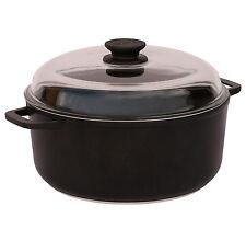 b39925f7 Casserole Pot with Aluminium Handles and Glass Lid 4 L 24 cm Non Stick BIOL