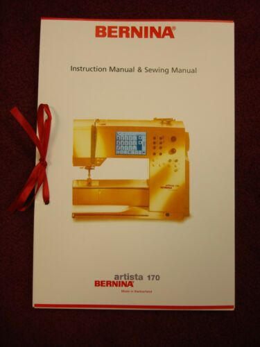 USED Bernina 170 Sewing Machine Instruction Manual Book