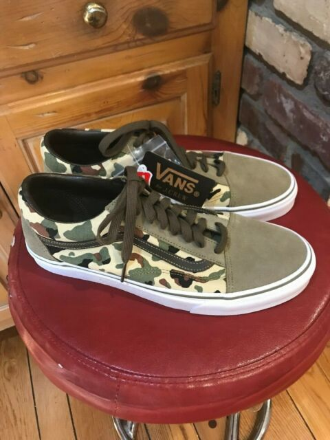 d0cf25ac928 MENS NEW VANS OLD SKOOL FOR J. CREW CAMO SIZE 10.5 RARE LIMITED EDITION