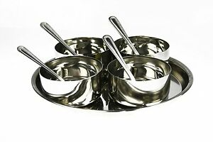 9-PC-ROUND-DELUXE-STEEL-RELISH-PICKLE-CHUTNEY-SERVING-BOWLS-THALI-SPOON-LARGE
