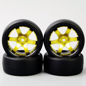 4PCS-1-10-Drift-neumaticos-amp-Rueda-Llanta-12mm-Hex-Set-para-HSP-HPI-RC-coche-de-carreras-de