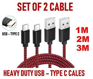 1m Strong Braided Fast USB C 3.0 Type C Data Sync Charger Charging Cable Lead UK