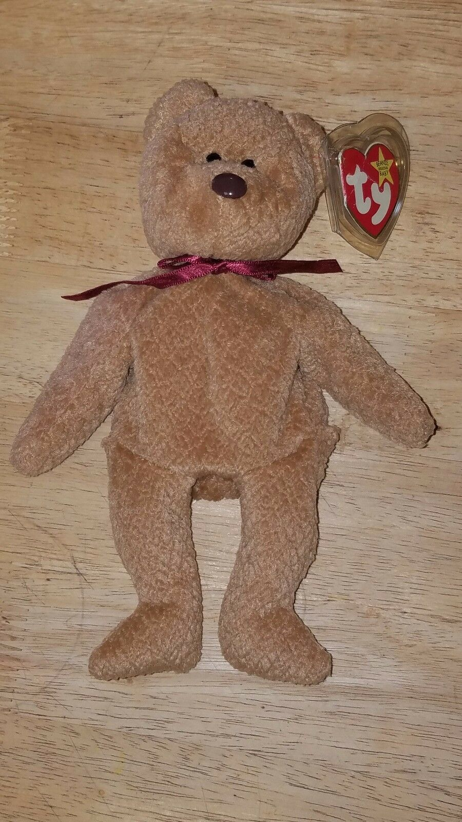 Ty  Curly Beanie Baby  EXTREMELY RARE with 17 ERRORS  RETIRED