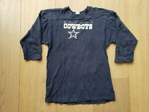 VTG-80s-90s-Champion-NFL-Dallas-Cowboys-3-4-Sleeve-Football-Tee-T-Shirt-X-Large