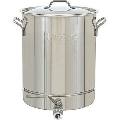 Home Brew Kettle Beer Brewing Stainless Steel 8 Gal Stockpot Stock Spigot  Pot