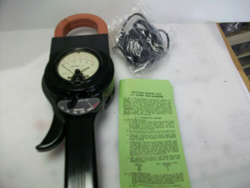 WESTON MODEL 633 CLAMP ON AMMETER