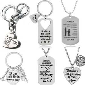 Christmas Gifts For Mom From Son.Details About To My Daughter Son Christmas Gifts Mom Mum Dad Family Pendants Necklace Xmas New