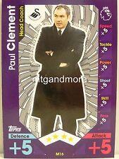 Match Attax 2016/17 Premier League -  M16 Paul Clement  - Manager