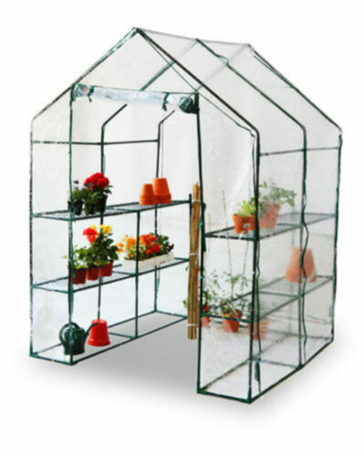 Panana Greenhouse Reinforced Green House Frame Walk in Plastic With Shelves