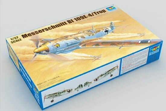 Trumpeter Static Messerschmitt BF-109 E-4 Tropical Plane Model 02290 1 32 Scale