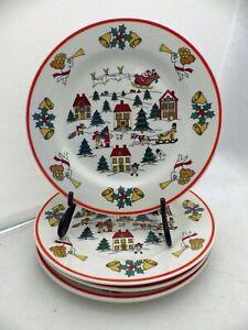 "Jamestown China - The Joy of Christmas - set/lot of 4 Salad plates - 7 1/2"" EUC"