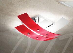 Plafoniere Camere Bimbi : Lampada lampadario soffitto plafoniera vetro bianco rosso cucina