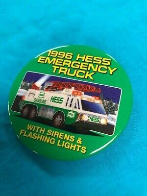 1996 Hess Truck Racer Pin Back Button in New Condition