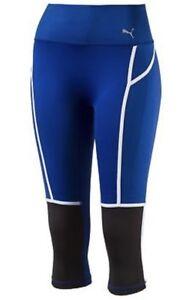 Details about PUMA Pwrshape 34 Blue Black White Training Tights Capri Pants NWT Womens M L