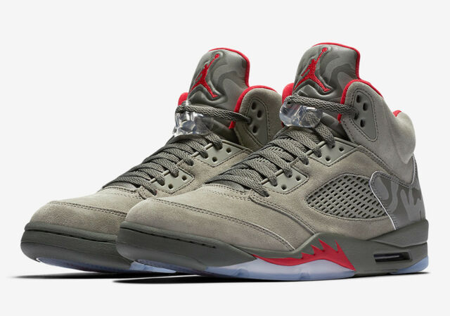 buy popular ad3cb 6ab30 NIKE AIR JORDAN 5 RETRO STUC FONCE UNIV. ROUGE  136027-051
