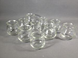 Lot de 10 ventouses médicales en verre vintage déco chalet montagne Savoie