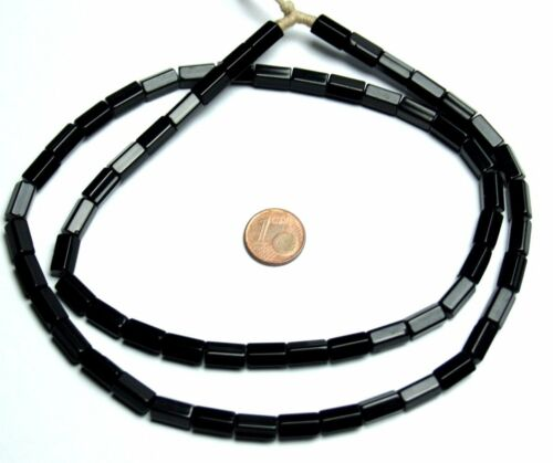 Strang 64 cm negra pentagonal cinco cuadrada lápiz Bugle Kaden abalorios