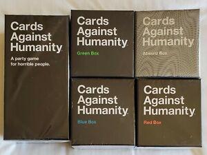 Nuevo-Cards-Against-Humanity-5-Box-Bundle-hepatitis-cronica-activa-Juego-Base-absurda-Azul-Verde