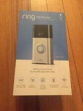 Ring Satin Nickel Video Doorbell720p HD Wi-Fi, Works w/ Alexa - NEW