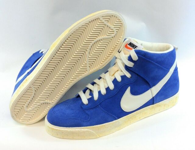 Mens Nike Dunk High AC 398263 400 Blue Suede 2010 Deadstock Sneakers Shoes