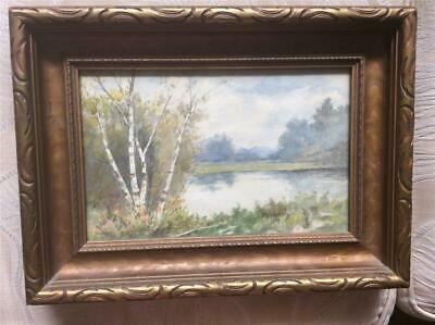Popular Brand Charming Watercolour Of A Cottage Lake-canadian Artist-w.h.schmatz-1927 Fashionable And Attractive Packages Art