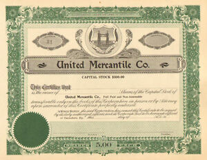 United-Mercantile-Co-gt-19-Kentucky-stock-certificate-share