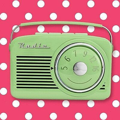 Retro Radio Glass Coasters set of 4 Funky with 4 Feet to Protect Table Surface