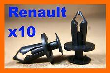 10 Renault engine undertray carriage fastener retainer clips